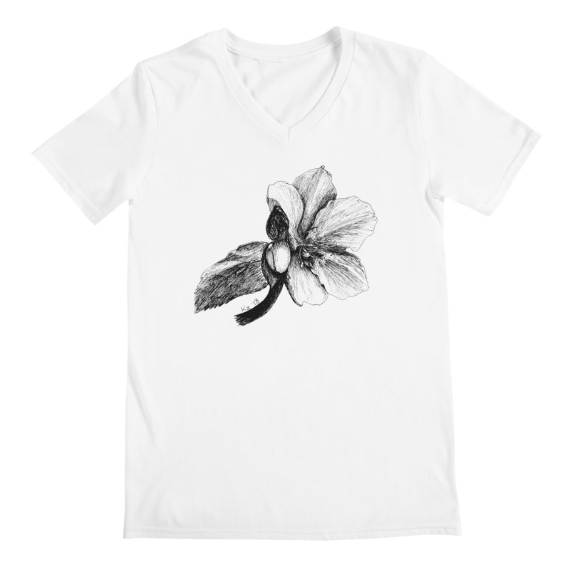 Flower T-shirt Men's V-Neck by kouzza's Artist Shop
