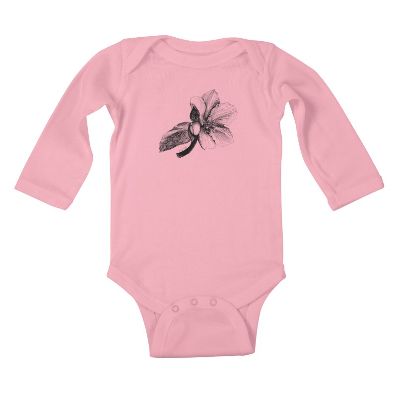 Flower T-shirt Kids Baby Longsleeve Bodysuit by kouzza's Artist Shop