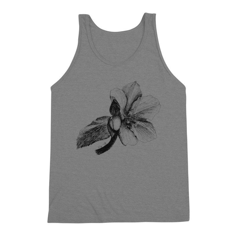 Flower T-shirt Men's Triblend Tank by kouzza's Artist Shop