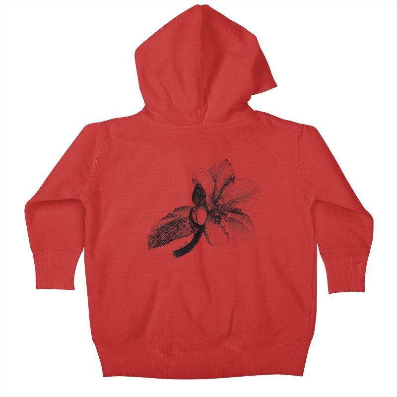 Flower T-shirt Kids Baby Zip-Up Hoody by kouzza's Artist Shop