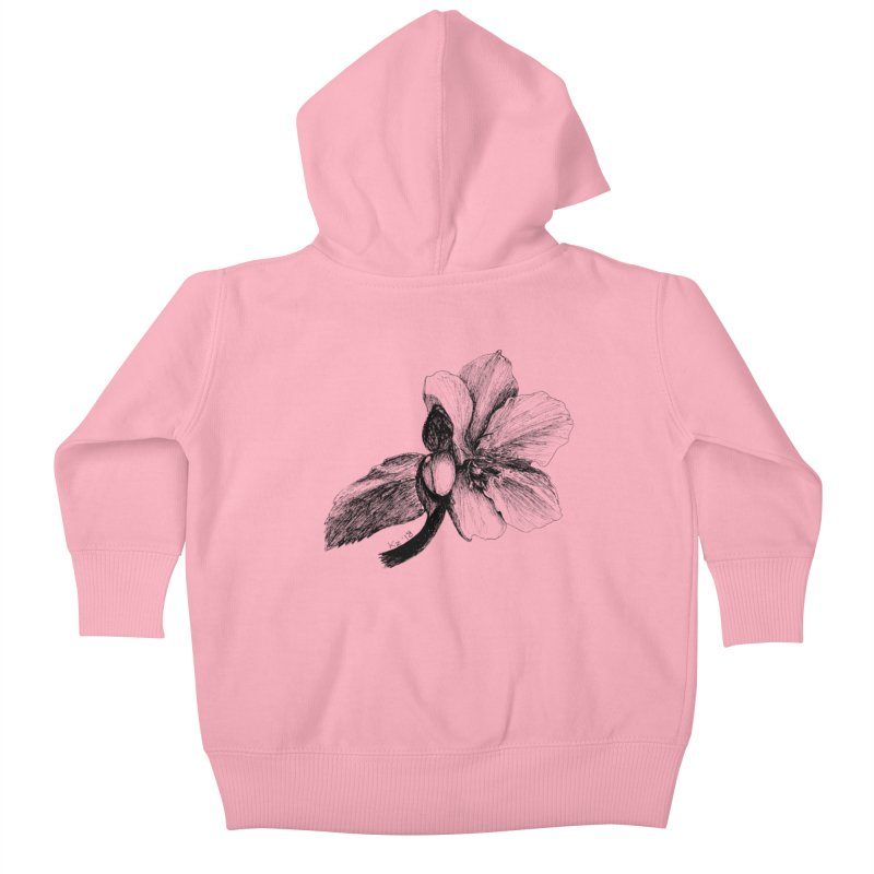 Flower T-shirt Kids Baby Zip-Up Hoody by kouzza's Artist Shop
