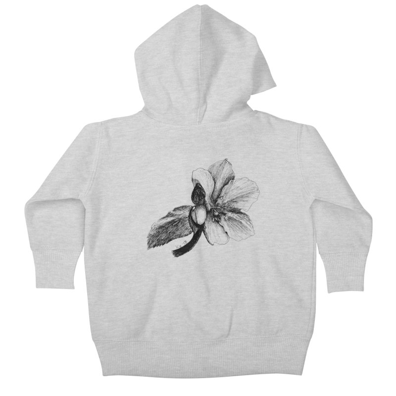 Flower 2 Kids Baby Zip-Up Hoody by kouzza's Artist Shop