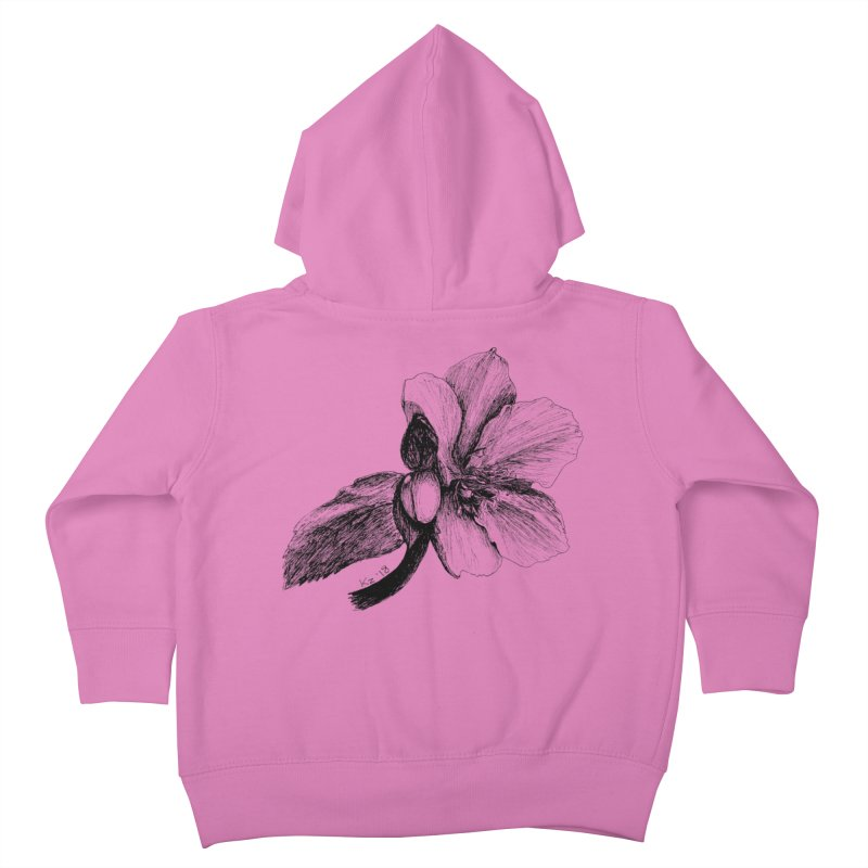 Flower 2 Kids Toddler Zip-Up Hoody by kouzza's Artist Shop