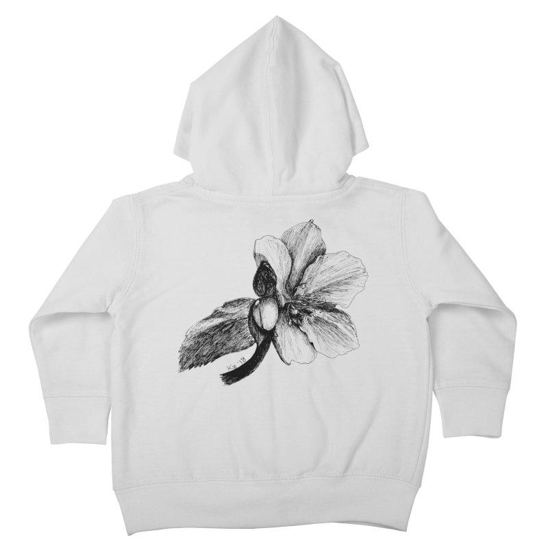 Flower T-shirt Kids Toddler Zip-Up Hoody by kouzza's Artist Shop