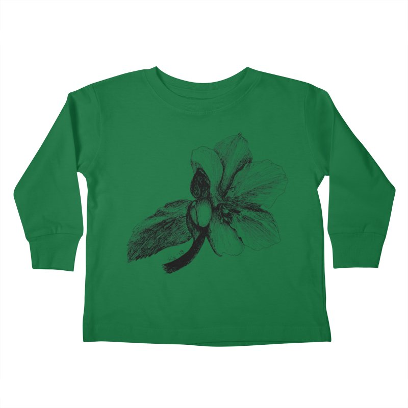 Flower T-shirt Kids Toddler Longsleeve T-Shirt by kouzza's Artist Shop