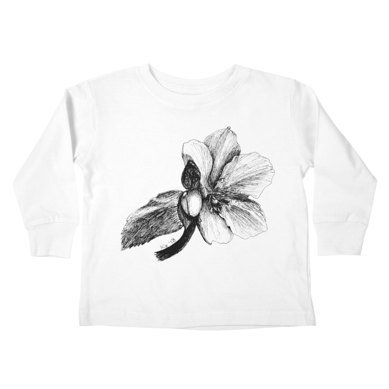 Flower T-shirt Kids Toddler Longsleeve T-Shirt by kouzza's Artist Shop