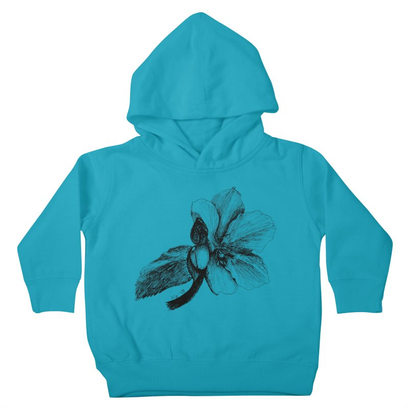 Flower T-shirt Kids Toddler Pullover Hoody by kouzza's Artist Shop