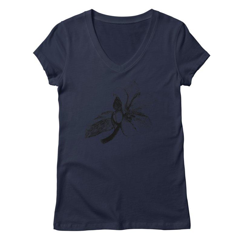 Flower T-shirt Women's Regular V-Neck by kouzza's Artist Shop