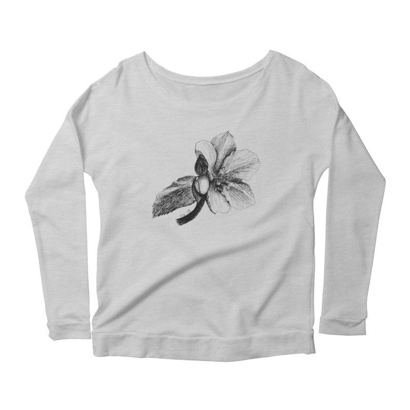 Flower T-shirt Women's Scoop Neck Longsleeve T-Shirt by kouzza's Artist Shop