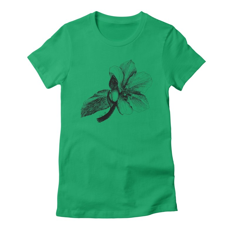 Flower T-shirt Women's Fitted T-Shirt by kouzza's Artist Shop