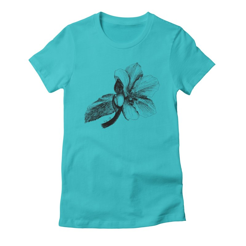 Flower T-shirt Women's Fitted T-Shirt by kouzza's Artist Shop