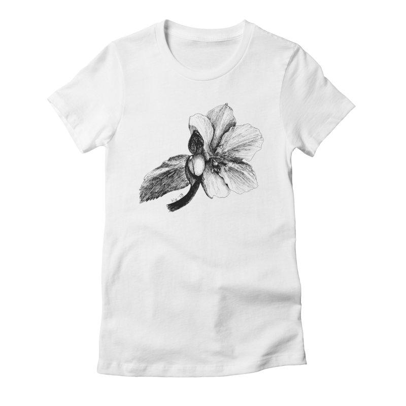 Flower 2 Women's Fitted T-Shirt by kouzza's Artist Shop
