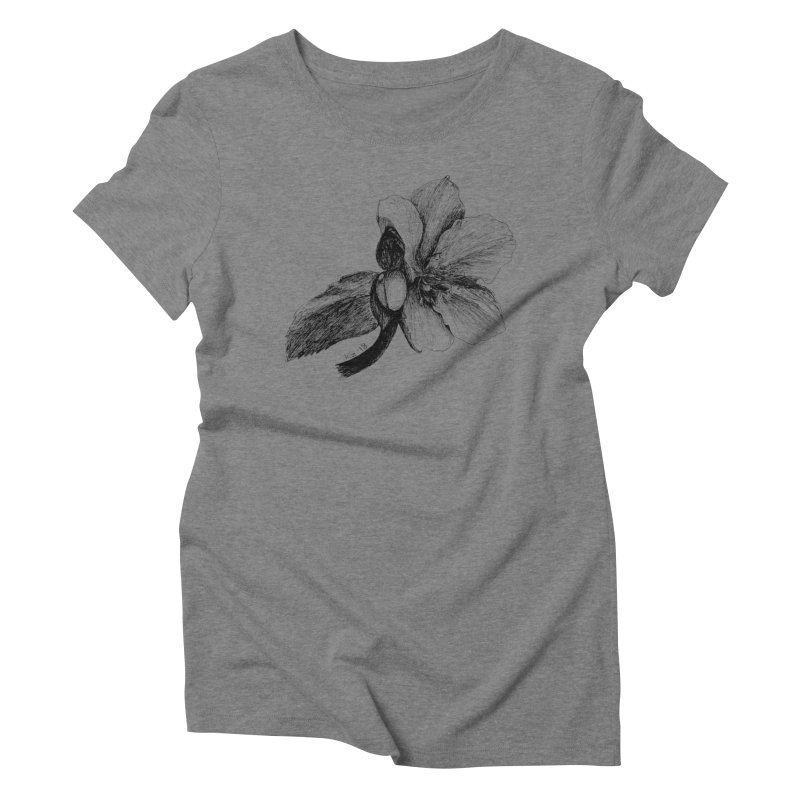 Flower 2 Women's Triblend T-Shirt by kouzza's Artist Shop
