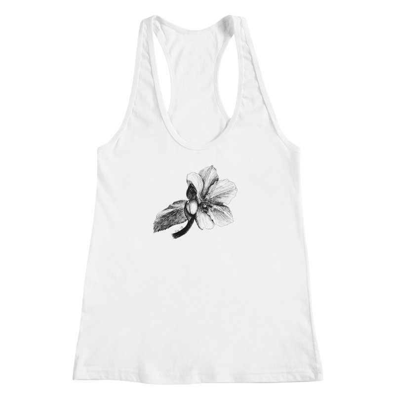 Flower T-shirt Women's Racerback Tank by kouzza's Artist Shop