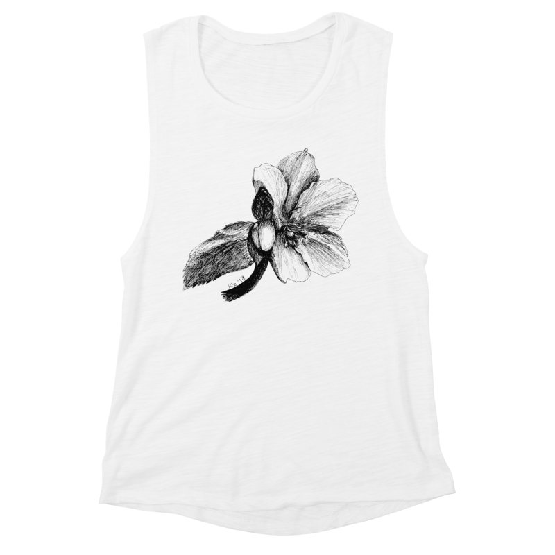 Flower T-shirt Women's Muscle Tank by kouzza's Artist Shop