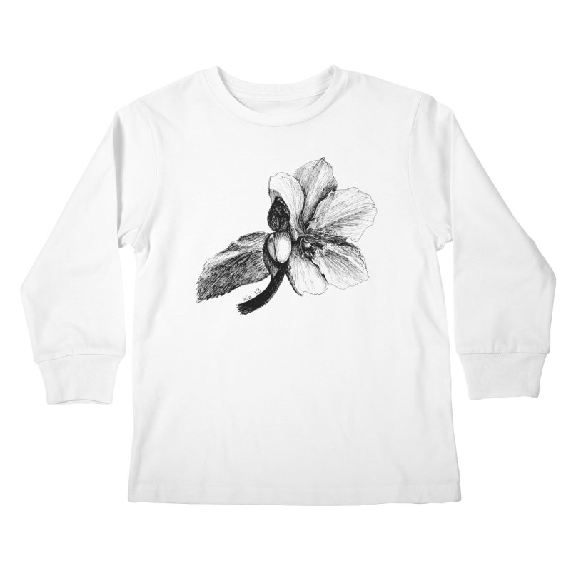 Flower T-shirt Kids Longsleeve T-Shirt by kouzza's Artist Shop