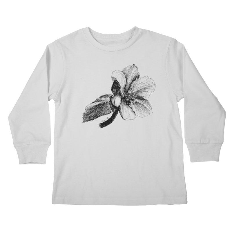 Flower 2 Kids Longsleeve T-Shirt by kouzza's Artist Shop