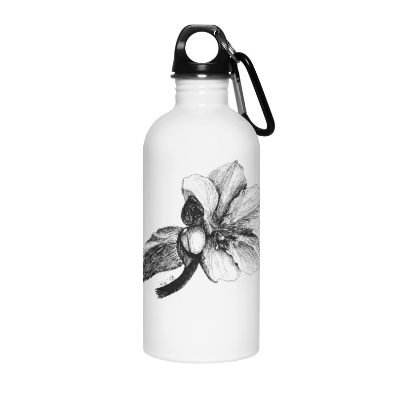 Flower T-shirt Accessories Water Bottle by kouzza's Artist Shop