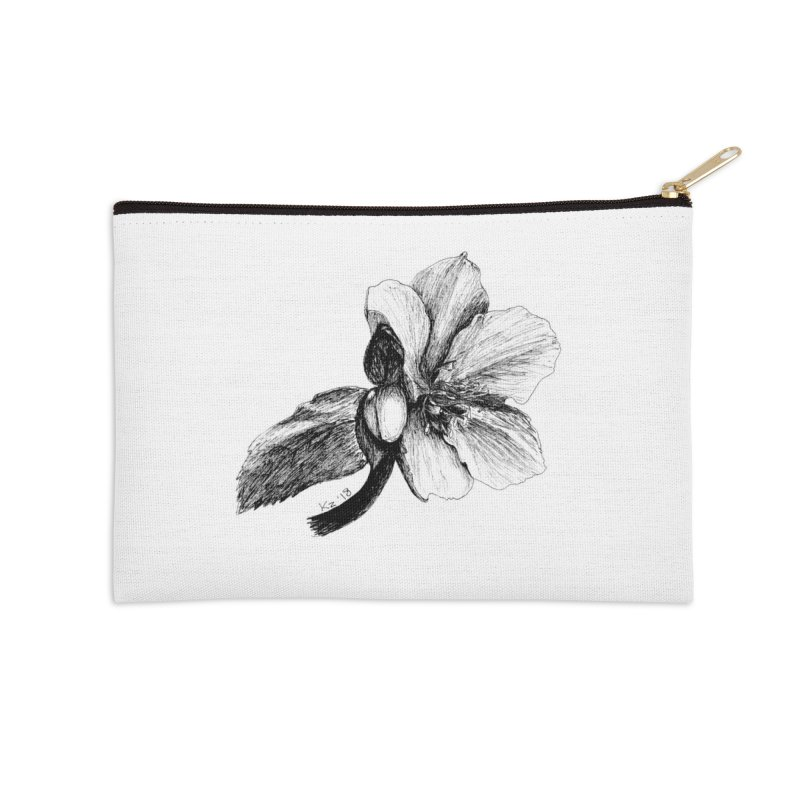 Flower T-shirt Accessories Zip Pouch by kouzza's Artist Shop