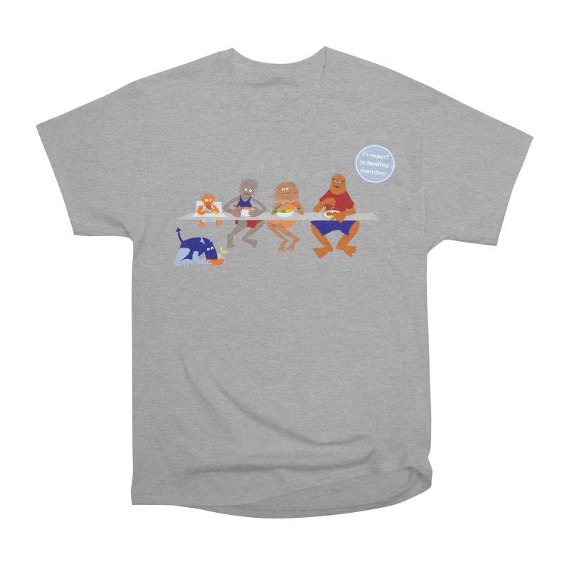 Mom - expert in feeding monsters Women's Heavyweight Unisex T-Shirt by kouzza's Artist Shop