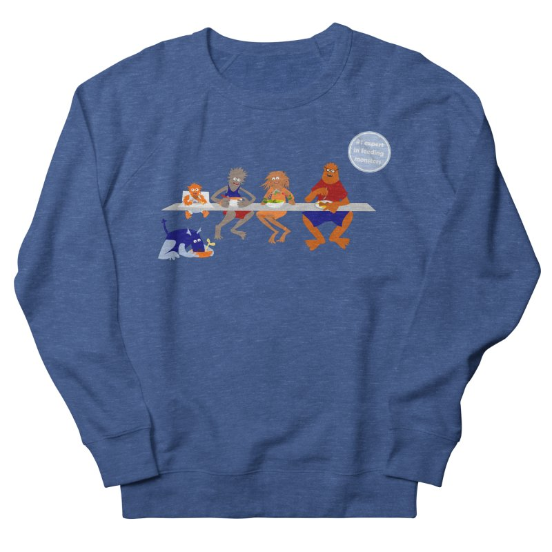 Mom - expert in feeding monsters Women's French Terry Sweatshirt by kouzza's Artist Shop