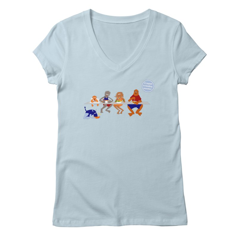 Mom - expert in feeding monsters Women's V-Neck by kouzza's Artist Shop