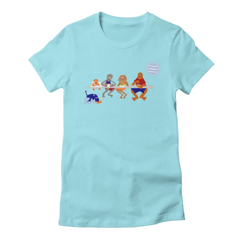 Mom - expert in feeding monsters Women's Fitted T-Shirt by kouzza's Artist Shop