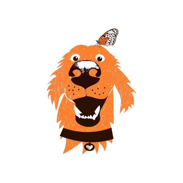 image for Orange dog with butterfly