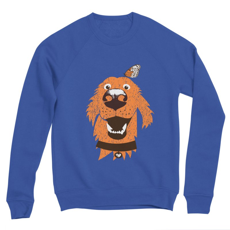 Orange dog with butterfly Women's Sweatshirt by kouzza's Artist Shop