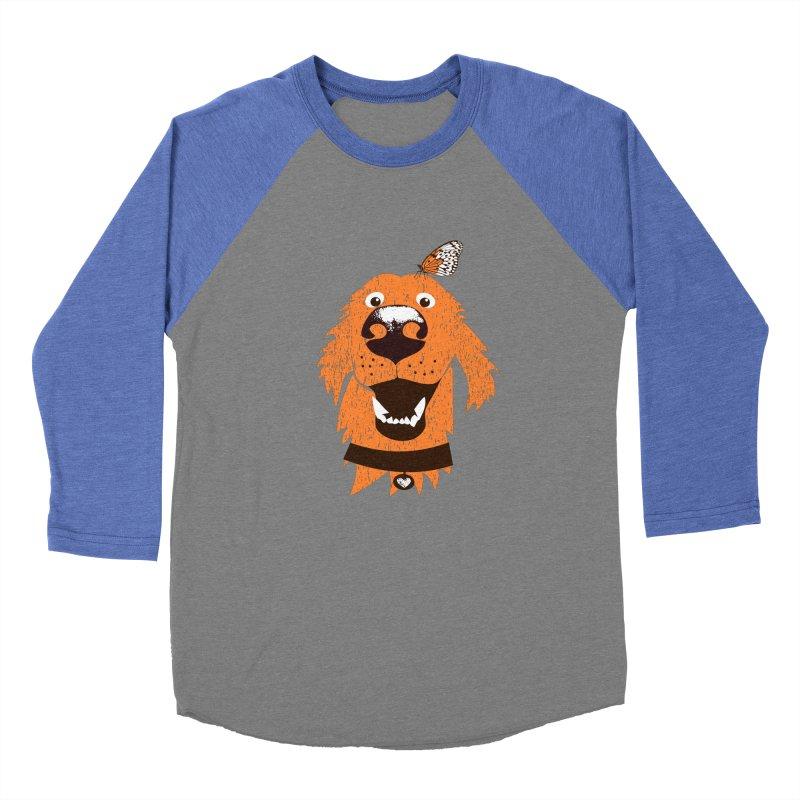 Orange dog with butterfly Women's Longsleeve T-Shirt by kouzza's Artist Shop