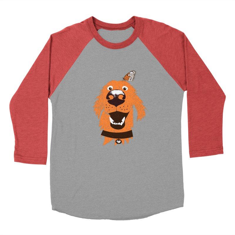 Orange dog with butterfly Men's Longsleeve T-Shirt by kouzza's Artist Shop