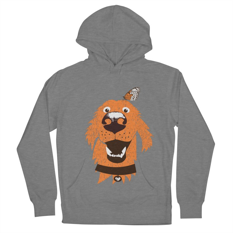 Orange dog with butterfly Women's Pullover Hoody by kouzza's Artist Shop