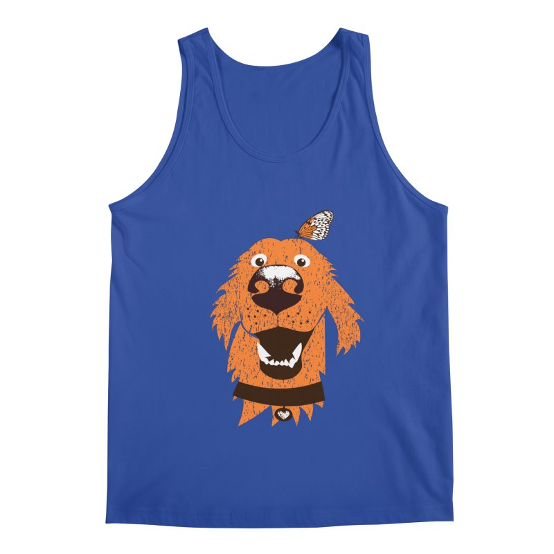 Orange dog with butterfly Men's Tank by kouzza's Artist Shop