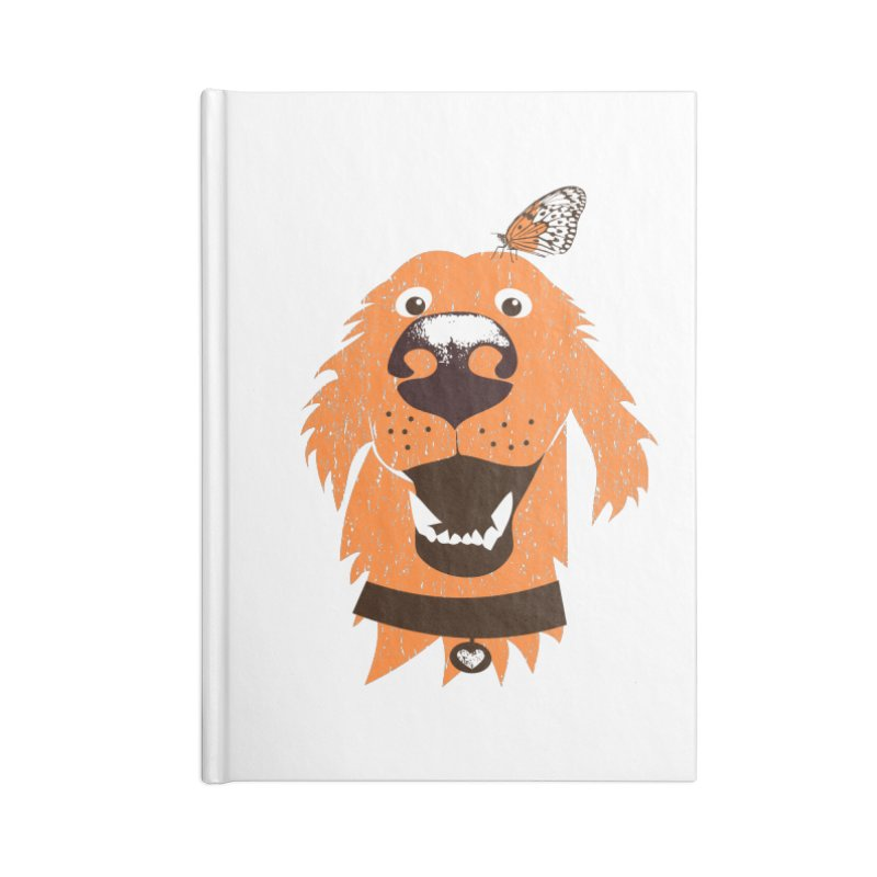 Orange dog with butterfly Accessories Blank Journal Notebook by kouzza's Artist Shop