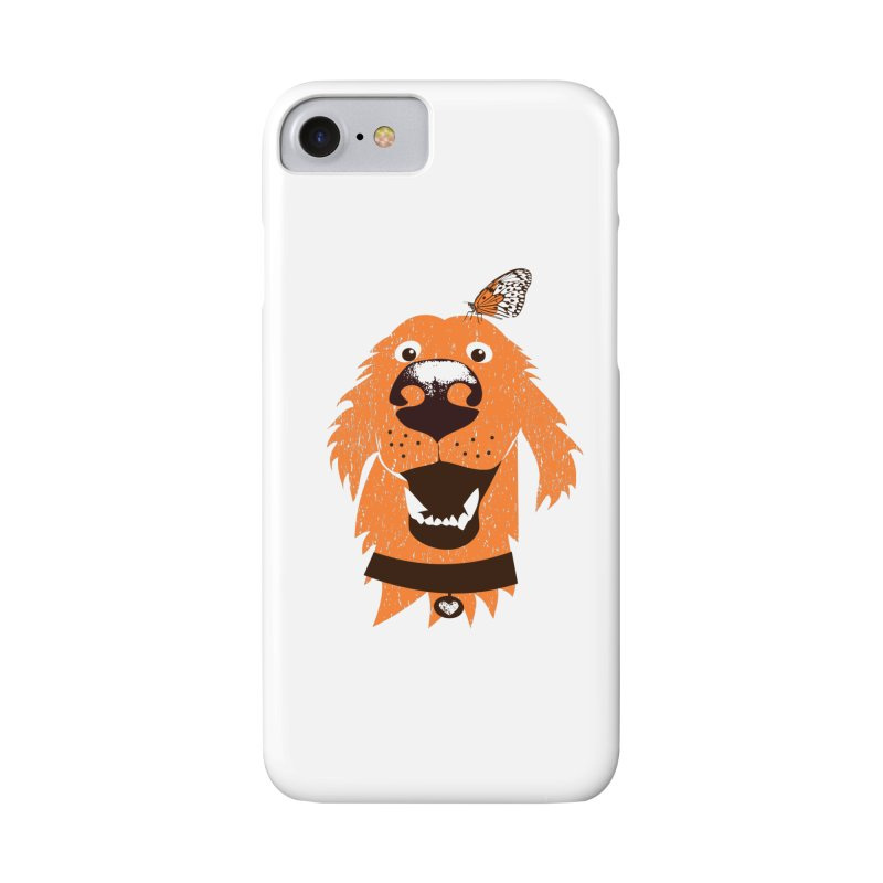 Orange dog with butterfly Accessories Phone Case by kouzza's Artist Shop