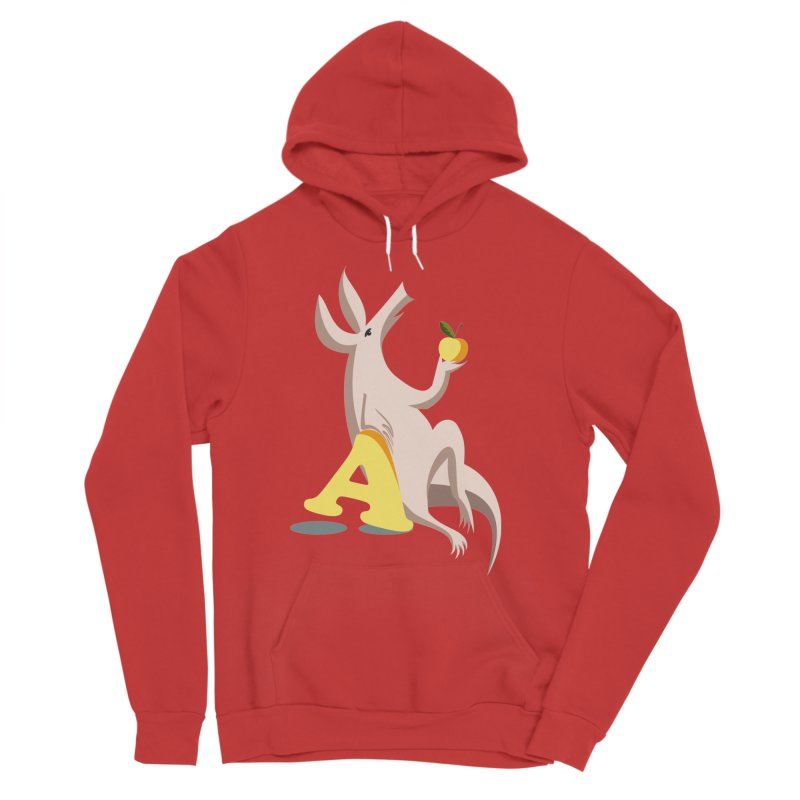 Aardvark and apple (To eat or not to eat) Men's Pullover Hoody by kouzza's Artist Shop