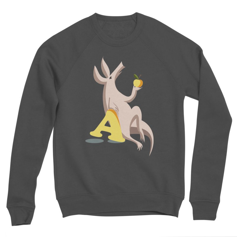 Aardvark and apple (To eat or not to eat) Women's Sponge Fleece Sweatshirt by kouzza's Artist Shop