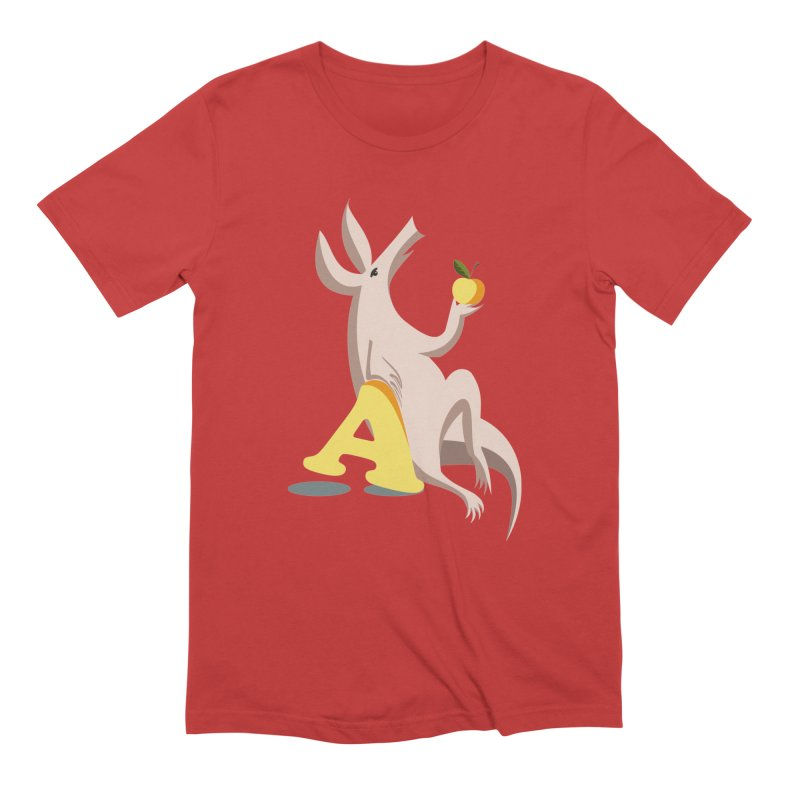 Aardvark and apple (To eat or not to eat) Men's Extra Soft T-Shirt by kouzza's Artist Shop