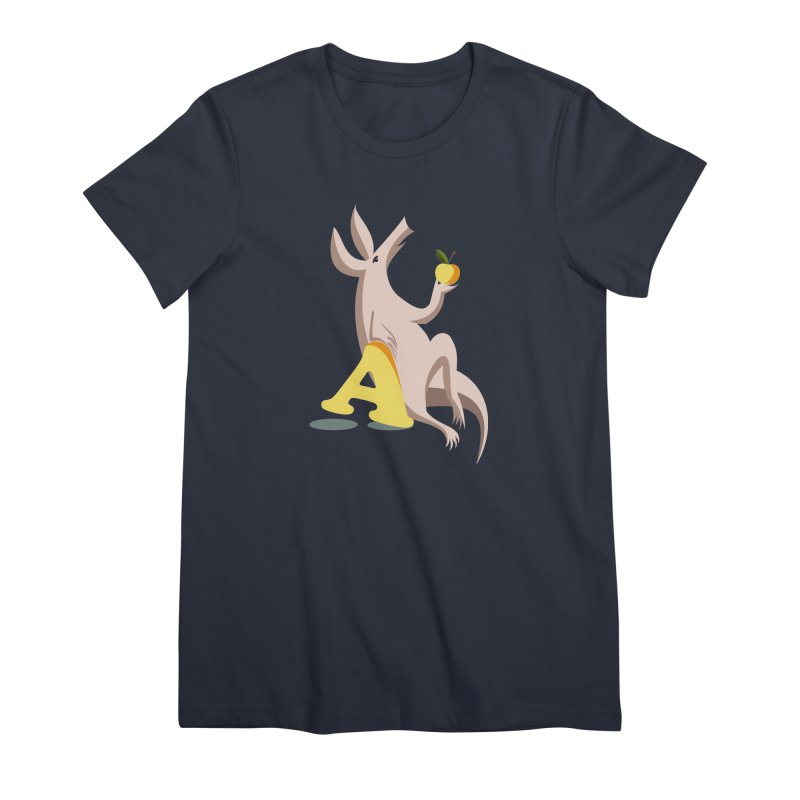 Aardvark and apple (To eat or not to eat) Women's Premium T-Shirt by kouzza's Artist Shop