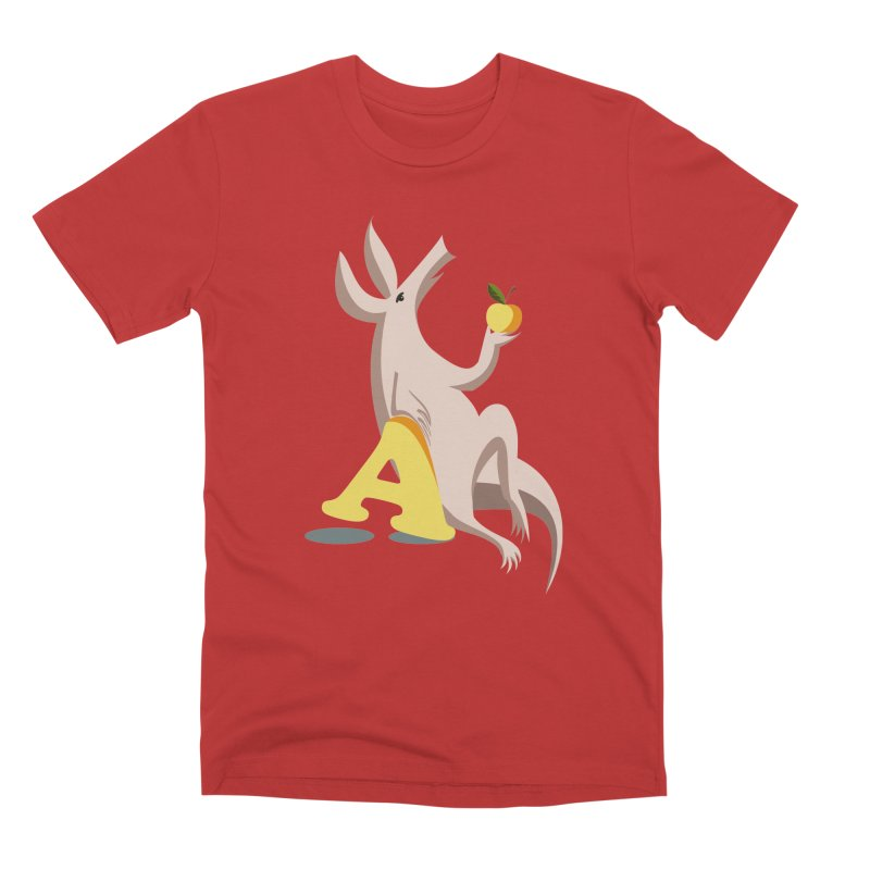 Aardvark and apple (To eat or not to eat) Men's Premium T-Shirt by kouzza's Artist Shop
