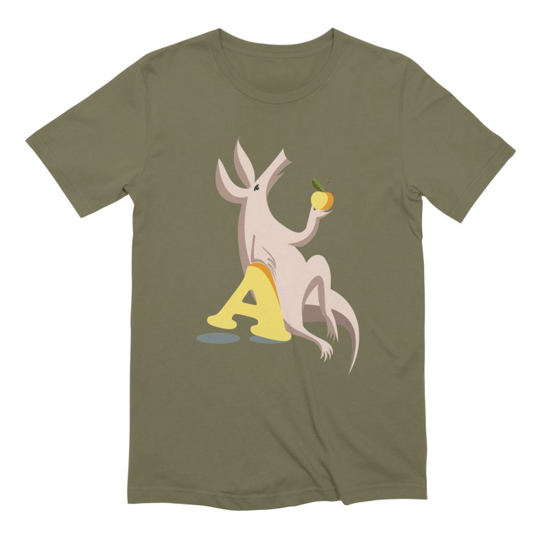 Aardvark and apple (To eat or not to eat) Men's T-Shirt by kouzza's Artist Shop
