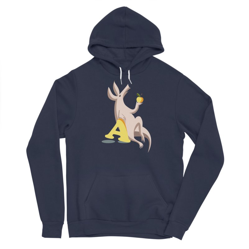 Aardvark and apple (To eat or not to eat) Men's Sponge Fleece Pullover Hoody by kouzza's Artist Shop