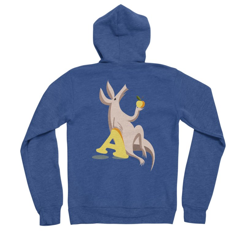 Aardvark and apple (To eat or not to eat) Women's Sponge Fleece Zip-Up Hoody by kouzza's Artist Shop