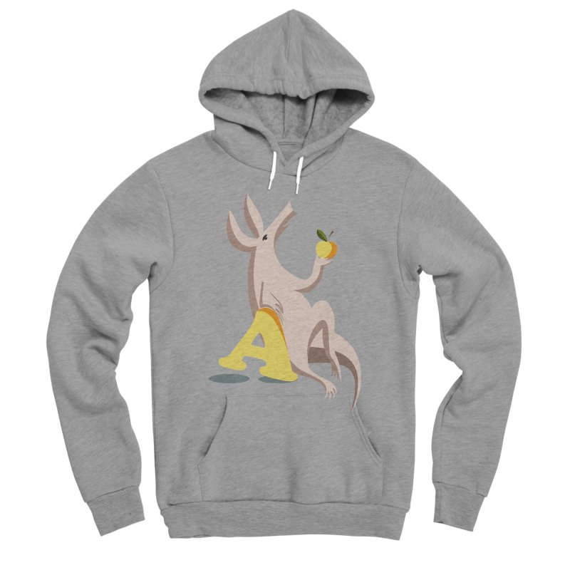 Aardvark and apple (To eat or not to eat) Women's Sponge Fleece Pullover Hoody by kouzza's Artist Shop