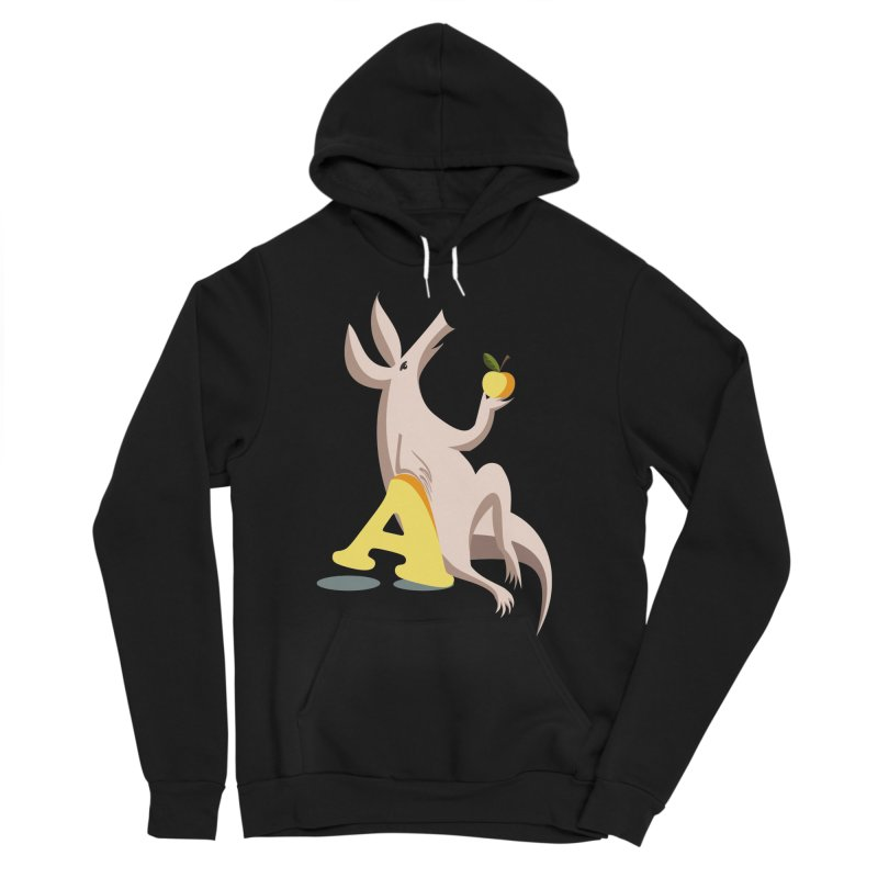 Aardvark and apple (To eat or not to eat) Women's Pullover Hoody by kouzza's Artist Shop