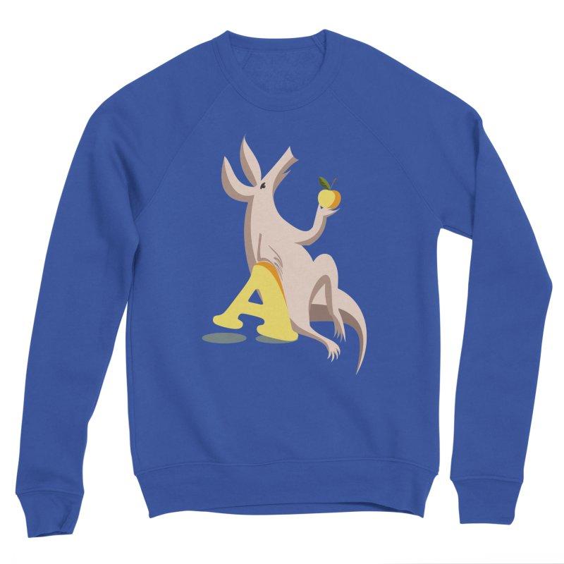 Aardvark and apple (To eat or not to eat) Men's Sponge Fleece Sweatshirt by kouzza's Artist Shop