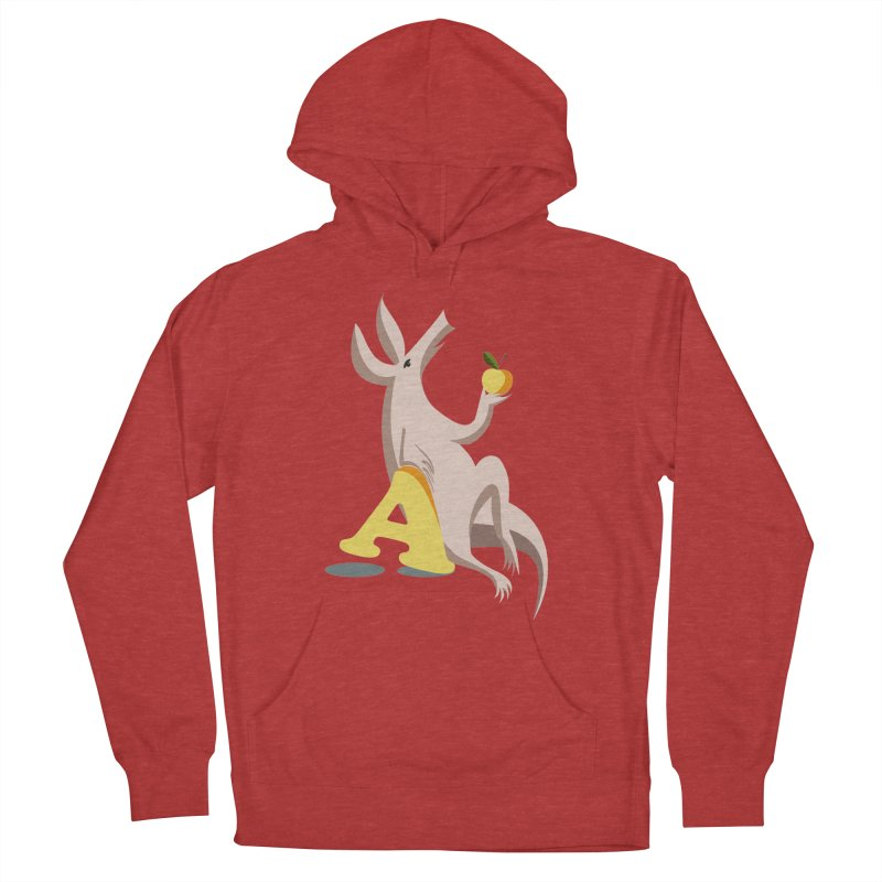 Aardvark and apple (To eat or not to eat) Women's French Terry Pullover Hoody by kouzza's Artist Shop