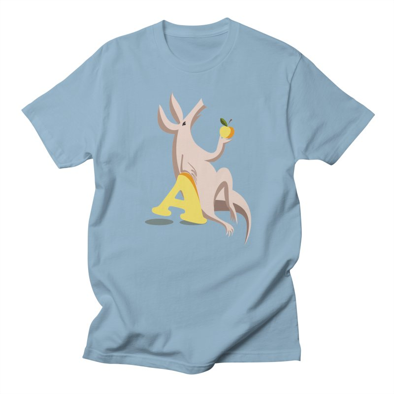 Aardvark and apple (To eat or not to eat) Women's Regular Unisex T-Shirt by kouzza's Artist Shop