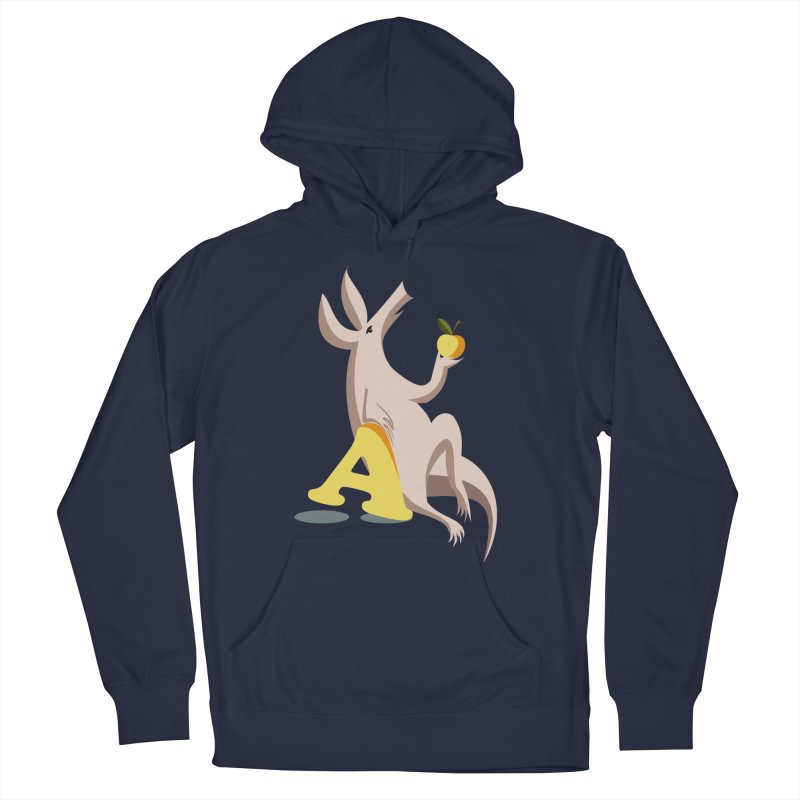 Aardvark and apple (To eat or not to eat) Men's French Terry Pullover Hoody by kouzza's Artist Shop
