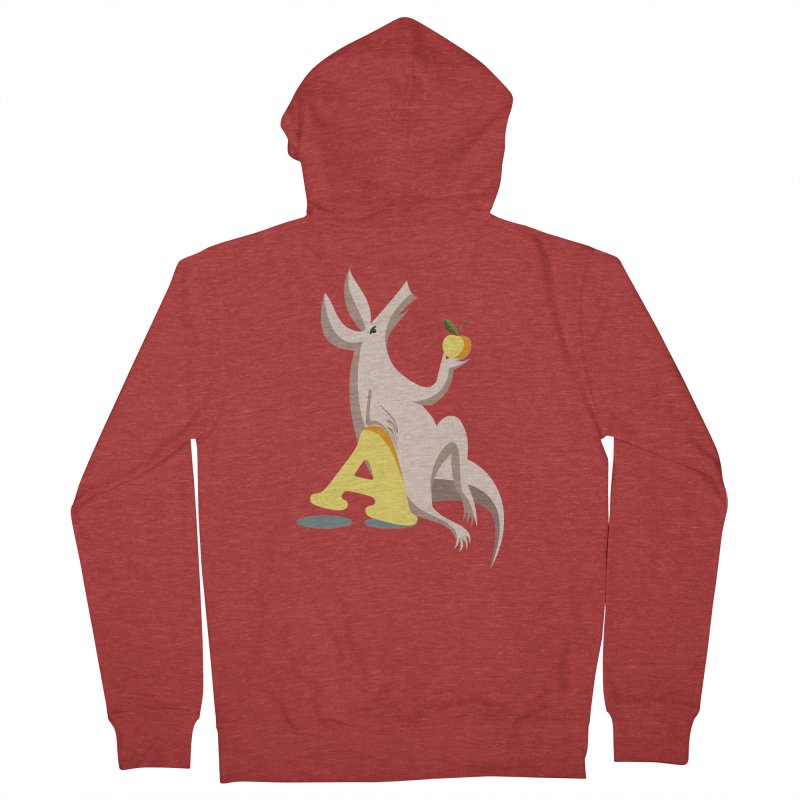Aardvark and apple (To eat or not to eat) Women's Zip-Up Hoody by kouzza's Artist Shop